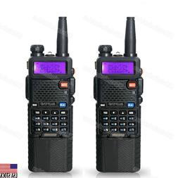 02 X BAOFENG UV-5R 3800mah Battery Two-way Walkie-Talkie Rad