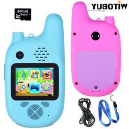 1 Pair Outdoor Kids Walkie Talkie with Digital Camera Functi