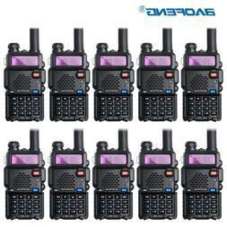 10PCS Baofeng UV-5R Walkie Talkie Headset VHF UHF Ham Portab