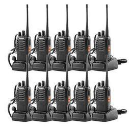 10x Baofeng BF-888S UHF 400-470MHz Two-way Radio Flashlight
