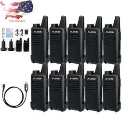 10XRetevis RT22 FRS 2Way Radio Long Range Walkie Talkies UHF