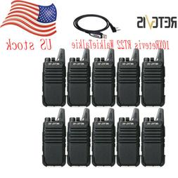 10XFRS Walkie Talkies Retevis RT22 UHF16CH TOT VOX Scan Sque