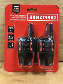 Craftsman 16-Mile Range Rechargeable 2-Way Radio Walkie Talk