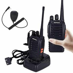 1PCS Walkie Talkie UHF 400-470MHz 16CH Two Way Radio With Or