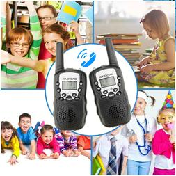2 x BF-T3 for Kids Gifts UHF Walkie Talkie LCD Flashlight 2-