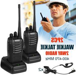 2 PCS Baofeng BF-888S Walkie Talkie 16 Channels Two-way Port