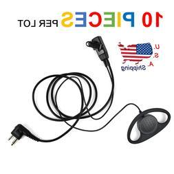 2 Pin d-Shape Walkie Talkie Earpiece Headset PTT MIC for Mot