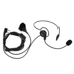 Retevis 2 Pin Overhead Headset with Microphone Walkie Talkie