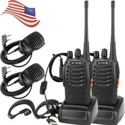 2*Portable UHF Retevis H-777 16CH 5W Walkie Talkie CTCSS Two
