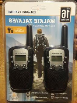 Blackfin 2 Radios Talkies 16 Mile Long Range Walkie Talkie 2