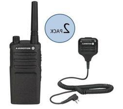 2 Motorola RMM2050 Two Way Radio Walkie Talkies with Speaker