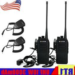 2XRetevis RT1 Walkie Talkies UHF400~520MHz 16CH 10W 3000mAh