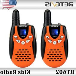 2x Retevis RT602 22CH Kids Walkie Talkies UHF 0.5W Flashligh