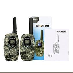 2*Retevis RT628 Kids Walkie Talkies 0.5W 22CH UHF Camo for C