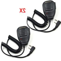 2*Walkie Talkie Handheld Speaker Mic Shoulder Microphone For