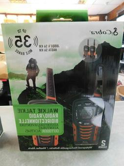 Cobra 2-Way Walkie Talkie ACXT645 HD 35mile Waterproof/Recha