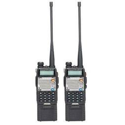 2 x Baofeng UV-5XP VHF UHF Dual Band Two Way Ham Radio Flash