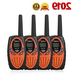 22 Channel 4 Pack Walkie Talkies UHF FRS/GMRS Auto Scan Two-