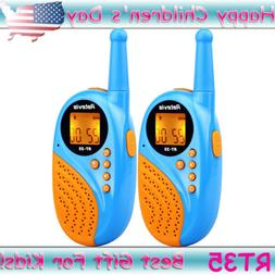 2×Blue Retevis RT35 Kids 22CH Walkie Talkies Child FRS 2way