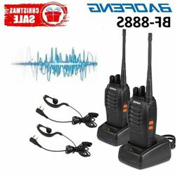 2Pack Baofeng BF-888S UHF CTCSS 5W Handheld Two-way Ham Radi