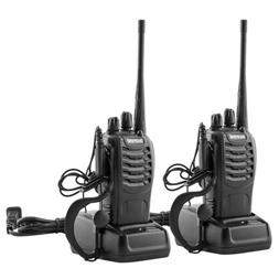 2Pcs 400-470MHz Walkie Talkies Long Range for Adults 2 Way R