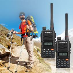 FLOUREON 2pcs Pack 7KM Display 22 Channel 400-470MHz Twin FM