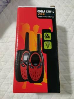 2pcs FLOUREON 22CH Walkie Talkies UHF462-467MHz 2-Way Radio
