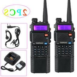 2PCS Baofeng UV-5R Walkie Talkies Two-way Radio Dual Band VH