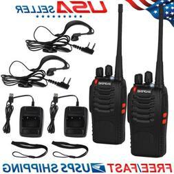 2PCS Baofeng BF-888S UHF 400-470 MHz 2-Way Ham Radio 16CH Wa