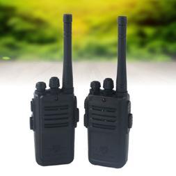 2Pcs Black Walkie Talkie Kids Electronic Toys Portable Two-W