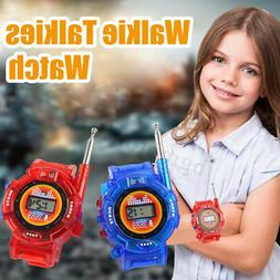 2Pcs Electronic 2 Way Radio Walkie Talkies Watch Kids Interp