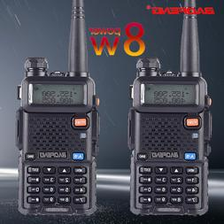 2pcs Baofeng UV-5R 8W True High Power 8 Watts powerful Walki