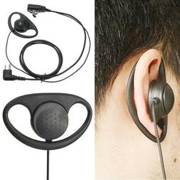 2Pin D Shape PTT Earpiece Headset with Boom Mic for Motorola