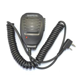 2Pin PTT Handheld Speaker MIC Microphone for Baofeng Kenwood