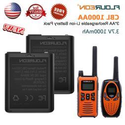 2x 3.7V 1000mAh 3AA Li-Ion Battery For Walkie Talkie 628/638