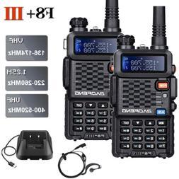 2x BAOFENG BF-F8+ III Tri-Band Walkie Talkies VHF/UHF Two Wa
