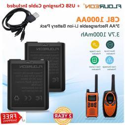 2x CBL1000AA 3AA Li-ion Battery 1000mAh for Walkie Talkie RT