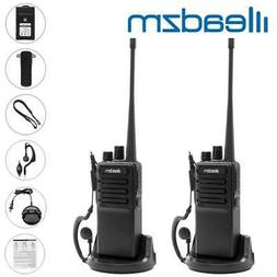 2x LEADZM LE-C2 Rechargeable 2800mAh Walkie Talkie UHF 400-4