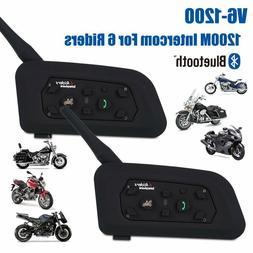2X Motorcycle Bike Helmet Bluetooth Walkie Talkie Intercom R
