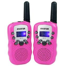 2x Pink Kids Retevis RT-388 Walkie Talkie UHF 462.5625-467.7