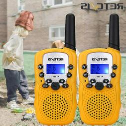 2XRetevis RT388 Kids Toy Yellow Walkie Talkie LCD+Flashlight