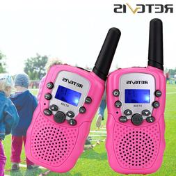 2xRetevis RT388 Portable Kids Walkie Talkie Pink 2way Radio