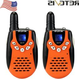 2xRetevis RT602 Kids Walkie Talkie LCD Display Flashlight 2-