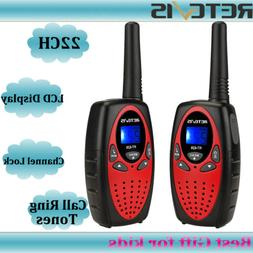 2x Retevis RT628 Kids Walkie Talkie UHF 22CH LCD Display two