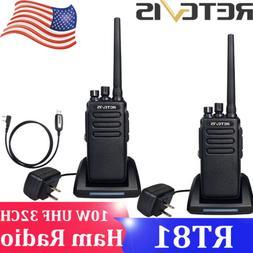 2XRetevis RT81 DMR 10W 32CH UHF Walkie Talkie Long Range Dig