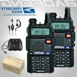 2x BAOFENG UV-5R 2-Way UHF/VHF 136-174/400-520Mhz Radio Dual