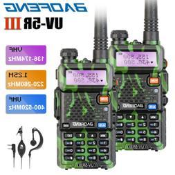2x BAOFENG UV-5R III Tri-band UHF/VHF Walkie Talkies Long Ra