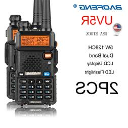 2x Baofeng UV-5R Walkie Talkie Dual Band 5W 128CH VOX 2-Way