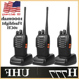 3 h777 walkie talkies uhf 16ch long