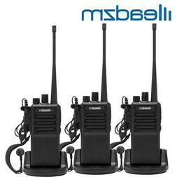3x LEADZM C2 UHF 400-470MHz Walkie Talkie Two Way Radio Hand